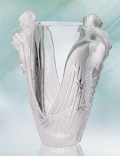 Lalique nudes vase is perfect