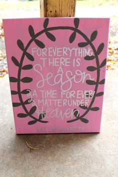 Ecclesiastes For Everything There is a Season // by colorsoncanvas, $30.00