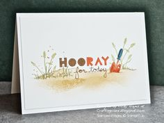 Hooray! A male card for a gardener