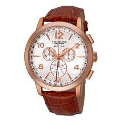 Stuhrling Original Men's 132XL.3345K2 Navigator De Leon Swiss Quartz Brown Watch