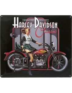 Vintage Motorcycles Classic Harley Davidson Sign Classic Pin Up Babe - Harley Davidson Sign Pirate Babe is a brand new embossed tin sign made to look vintage, old, antique, retro. Purchase your embossed tin sign from the Vintage Sign Shack and save. Harley Davidson Dyna, Vintage Harley Davidson, Harley Davidson Kunst, Harley Davidson Kleidung, Harley Davidson Birthday, Harley Davidson Posters, Harley Davidson Roadster, Harley Davidson Helmets, Classic Harley Davidson