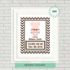 Baby Girl Cross Stitch/Birth Announcement cross stitch pattern/baby cross stitch/baby shower gift/baby girl stitch/baby birth record#14-003