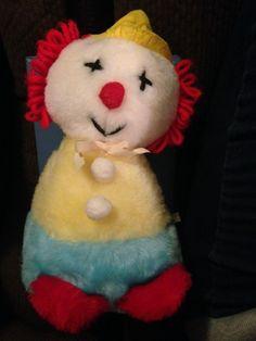SOLD-Rare Eden Toys Vintage Stuffed Plush Musical Blue Red Yellow White Black Motion #Eden