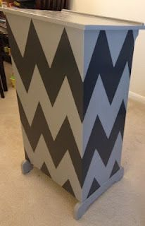 Adventures in Sixth: Classroom podium in a chevron pattern
