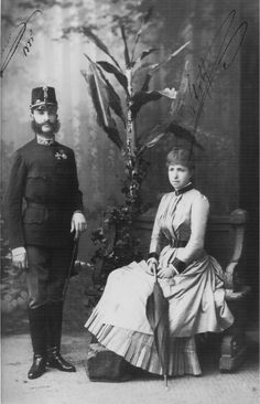 Alfonso XII with his second wife Maria Christina of Habsburg