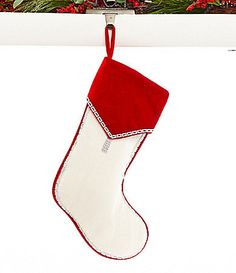 Dillards Trimmings Red Carpet Rollout Velvet Cuff Stocking #Dillards