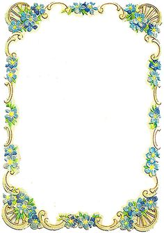 Vintage Forget-me-nots Frame ~ PJH Designs Hand Painted Antique Furniture: Free Graphic Wednesday Couch Furniture, Furniture Logo, Art Deco Furniture, Furniture Makeover, Furniture Design, Coaster Furniture, Classic Furniture, Modern Furniture, Furniture Plans