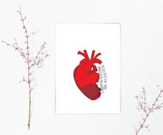 Medical Love Card -  Anatomy Science Card - Nursing Student Gift - Medical Student Gift - I Love You Card - Geeky Love Card - Nerdy Love