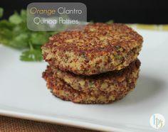 Orange Cilantro Quinoa Patties | Britt's Blurbs #freshfood #recipe #dinner #healthy #quinoa
