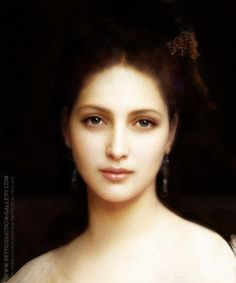 """Bouguereau - """"Aphrodite"""" by William-Adolphe Bouguereau. This portrait is of such great beauty. William Adolphe Bouguereau, Aphrodite Painting, Skin Paint, Make Up Gesicht, Oil Painting Reproductions, Classical Art, Henri Matisse, Art Oil, Female Art"""