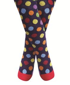 Take a look at this Navy Bright Polka Dot Tights - Infant, Toddler & Girls by JoJo Maman Bébé on #zulily today!