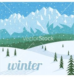 Winter landscape tourism background vector 3769793 - by macrovector on VectorStock®