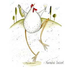 """""""Marinated Chicken"""" from Doodle-Doo Personalised Charity Cards"""