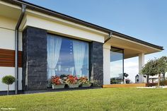Projekt domu Dom w bodziszkach Realizacje - ARCHON+ Windows, Bungalow, Outdoor Decor, House, Design, Home Decor, Cottage, Hearths, Decoration Home