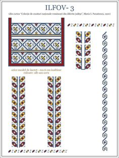 Ie Ilfov, Romania Folk Embroidery, Learn Embroidery, Hand Embroidery Designs, Embroidery Stitches, Embroidery Patterns, Beading Patterns, Cross Stitch Patterns, Palestinian Embroidery, Cross Stitch Fabric