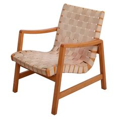 Early Jens Risom Armchair by Knoll or Vostra with Original Webbing