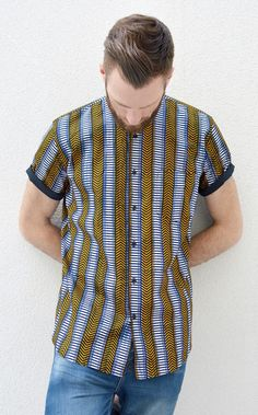 Ladyhood for men ~African Prints, Ankara, kitenge, African women dresses… African Shirts For Men, African Dresses For Women, African Wear, African Women, African Print Fashion, African Prints, Afro Men, Afro Style, Ghanaian Fashion