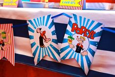 Lucas' Popeye the Sailorman Themed Party -Sweet treats