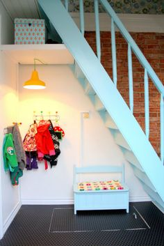 Color**** 19 Clever Uses for the Space Under Your Stairs via Brit + Co.