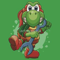 Teenage Mutant Ninja Koopa T-shirt by Artistic Dyslexia. artisticdyslexia.com Also available in Adult and Children's Apparel; Leggings; Prints, Posters and Cards; Stickers; iPhone, iPod, iPad and Samsung Cases; iPhone and iPad Skins; Throw Pillows; Mugs; Travel Mugs; Duvet Covers and Tote Bags!