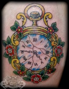 Traditional Watch Tattoo Traditional Clock By With Images