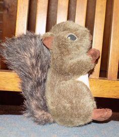 """RARE 8"""" Martha Stewart PETS Plush Squeaky Squirrel DOG TOY #MarthaStewart"""