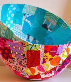 Fabric balloon bowls