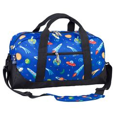 Wildkin Olive Kids Out of this World Duffel Bag, Blue