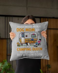 Tough enough to be a dog mom and camping queen tee - Ash outdoors gifts, camping treats, camping projects #dishscrubbers #airstream #airstreamrenovation, dried orange slices, yule decorations, scandinavian christmas