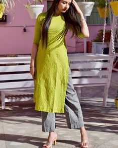Add to ur cart Shop this amazing outfit only at Pittara jaipur ! vogue summerishere bestoftheday indianfashion… is part of Dresses - Salwar Designs, Simple Kurti Designs, Kurta Designs Women, Kurti Designs Party Wear, Blouse Designs, Plain Kurti Designs, Dress Indian Style, Indian Dresses, Indian Outfits