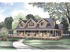 pioneer park rustic log home - Rustic House Plans With Wrap Around Porches