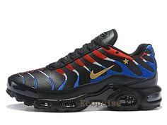 d76349e7946c Nike Air Max Plus Tn 2018 Chaussures Coupe du champion Running Pas Cher Pour  Homme Noir