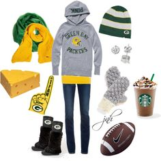Adorable Green Bay Packers outfit!!