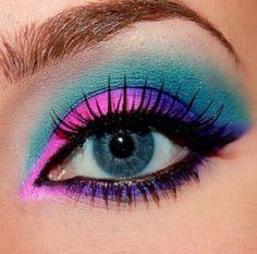 17 fabulous neon eye make up ideas for women - # for . - 17 fabulous neon eye makeup ideas for women - Love Makeup, Makeup Art, Hair Makeup, Makeup Ideas, Makeup Style, Fun Makeup, Makeup Tips, 80s Makeup Looks, Makeup Primer