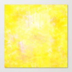 Wateryellow Stretched Canvas by Escrevendo e Semeando - $85.00