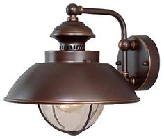 Vaxcel OW21501BBZ Harwich 10-Inch Outdoor Wall Light, Burnished Bronze
