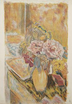Les Fleurs Intériure (Plate 3 from the Suite de 10 Lithographies en Couleurs)  Text by Antoine Terrasse. by Pierre Bonnard