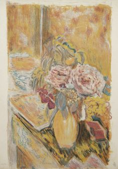 The project was a collaboration between Pierre Bonnard and Jacques Villon with Villon recording Bonnard's gouaches on the stones. Description from annexgalleries.com. I searched for this on bing.com/images