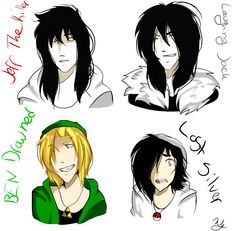Jeff The Killer, Ben drowned, Laughing Jack and Lost Silver