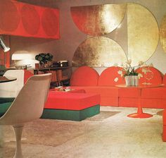 1972; I need some golden semicircles in the living room!