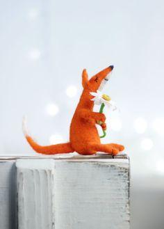 Needle Felt Fox  Christmas Decoration  Dreamy by FeltArtByMariana
