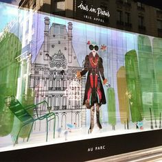 "LE BON MARCHE,Paris, France, ""Iris Apfel is going for a walk in the park..... in Paris"", (Iris in Paris), photo by Adeline Cabale, pinned by Ton van der Veer"