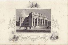 Arcade Providence Rhode Island Original Print Circa 1850