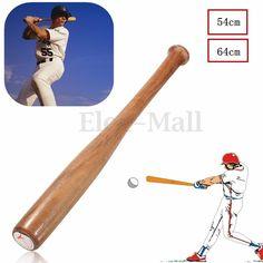 54/64cm Wood Baseball Bat Wooden Softball Bat Sports Racket Outdoor Activities #UnbrandedGeneric