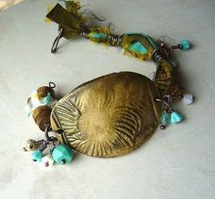 Loving these poly clay cuff bead bracelets.