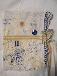 Fabric Books, Fabric Journals, Journal Paper, Fabric Paper, Art Journals, Altered Books, Altered Art, Vintage Linen, Journal Covers