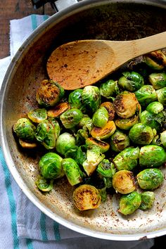 Simple Sauteed Brussels Sprouts #delicious