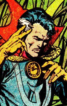 Doctor Strange By Sal Buscema & Klaus Janson Arte Dc Comics, Old Comics, Vintage Comics, Comic Book Artists, Comic Books Art, Comic Art, Marvel E Dc, Marvel Heroes, Doctor Strange