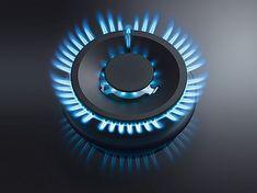 Flaches Gaskochfeld mit Glaskeramik Oberfläche und leicht erhabenen Gasbrenner Bmw Logo, Flat Design, Cooking