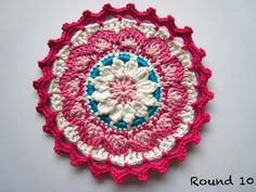 Oh Milly!: Wallflower Mandala (Coaster) Tutorial